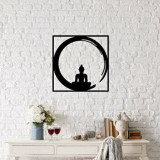 Cumpara ieftin Decoratiune pentru perete, Ocean, metal 100 procente, 50 x 50 cm, 874OCN1004, Negru