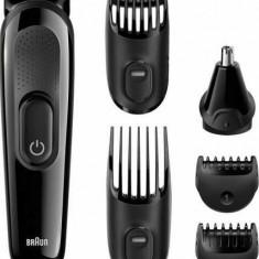 Kit de ingrijire multifunctional Braun MGK3020 6-in-1, 4 piepteni, 13 lungimi, atasament par urechi si nas, Negru