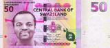 SWAZILAND █ bancnota █ 50 Emalangeni █ 2010 █ P-38 █ UNC necirculata