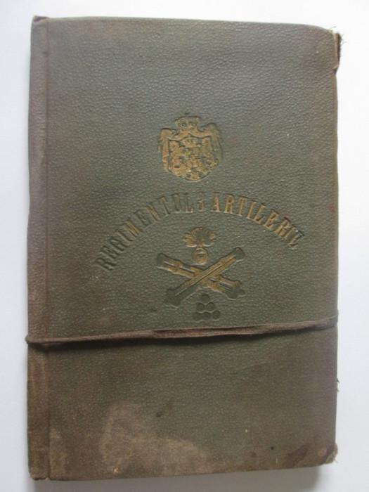 Raritate! Livret de serviciul militar Regimentul 3 Artilerie contingentul 1898