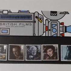 Timbre Anglia 1985 -Filme Britanice In Folie De Prezentare MNH +Carton Filatelic