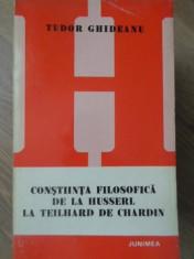 CONSTIINTA FILOSOFICA DE LA HUSSERL LA TEILHARD DE CHARDIN - TUDOR GHIDEANU foto