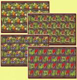 2005 Romania - Pesti exotici, coli de 20 timbre si 20 vignete LP 1676 b, MNH, Fauna, Nestampilat