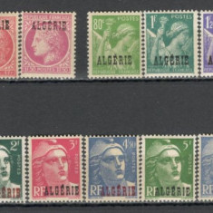 Algeria.1945 Timbre Franta-supr.  18 buc.  SX.59, Nestampilat