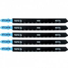 Set 5 lame pentru fierastrau pendular Yato YT-3416, lungime 130mm, pentru metal, 21TPI