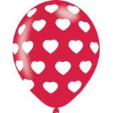 Baloane latex rosii inimi