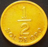Moneda exotica 1/2 Sol de Oro - PERU, anul 1976   *Cod 2079, America Centrala si de Sud
