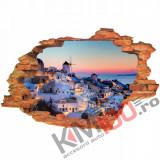 "Sticker ""Wall Crack"" Santorini 12 - 120 x 80 cm"