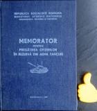Memorator pentru pregatirea ofiterilor in rezerva din arma tancuri