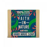 Sapun natural solid cu Aloe Vera, Faith in Nature, 100 g