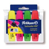 Set 4 culori Textmarker 490, Pelikan, Blister