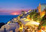 Puzzle Castorland 1000 Santorini noaptea Grecia---