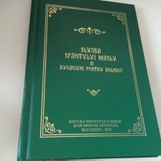 SLUJBA SFANTULUI MASLU SI RUGACIUNI PENTRU BOLNAVI. INSTITUTUL BIBLIC 2012
