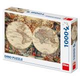 Puzzle, 1000 piese, Harta veche a lumii