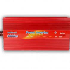 Invertor Auto Convertor Tensiune  12V - 220V ,  3000W, putere continua 2000 W