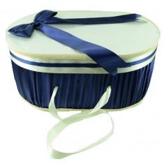 Cutie eleganta pentru botez-NN CEB4B, Bleumarin