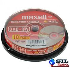 DVD-RW 4.7GB 6X 10buc pe cutie, Maxell