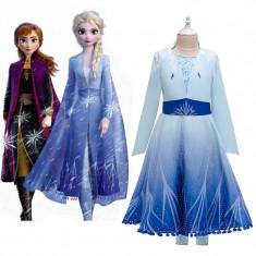 Rochie/rochita Elsa Frozen 2 costum complet 3 piese Regatul de gheata