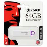 Memorie USB KINGSTON, 64Gb Datatraveler G4 Negru + Ambalaj Retail