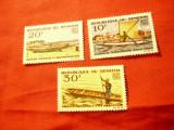 Serie mica Senegal 1965 - Turism , 3 valori (din4v) fara guma