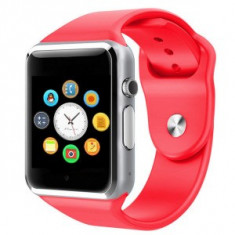 Ceas SmartWatch MediaTek™ A1 PLUS RED -Telefon microSIM, microSD camera