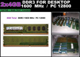 Kit 8GB Memorie Ram DDR3 Calculator 2x4GB 1600 MHz Garantie