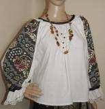 Camasa populara din Banat , ie veche lucrata manual , camasa costum popular -M