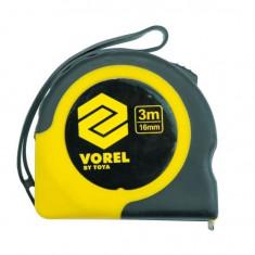 Ruleta Vorel 10104, lungime 3 m, latime 16 mm Mania Tools