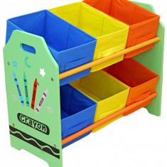 Organizator jucarii cu cadru din lemn Green Crayon