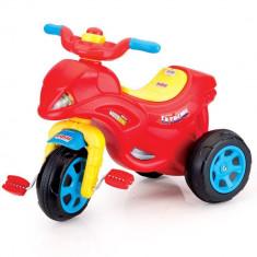Tricicleta Dolu Moto bike, pedale pe roata din fata, roti late