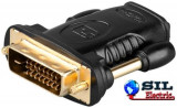 Adaptor HDMI 19 pini mama - DVI-D 24+1 pini tata