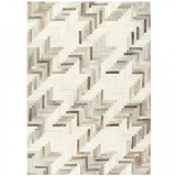 Cumpara ieftin Covor piele cu păr natural mozaic gri/alb 80 x 150 cm