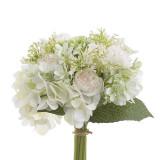 Buchet flori decor White 24 cm