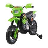 HomCom Moto Cross Electric pentru Copii cu Role,Verde