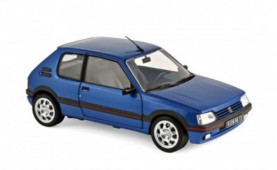 Macheta Auto Norev, Peugeot 205 GTi 1,9 1992 - Miami Albastru 1:18 foto