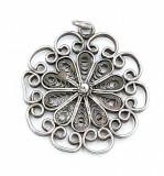 Superb pandantiv vechi din argint filigranat, manufacturat !