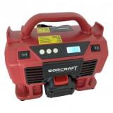 Cumpara ieftin Compresor auto 4 in 1, cu acumulator Worcraft CAC-S20Li, 20V, 11 Bar, LED, lanterna si aspirator