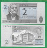 = ESTONIA - 2 KROONI – 2007 - UNC   =