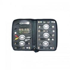 Kit Usb Portabil, Negru cu 14 Accesorii