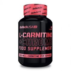 BioTech USA L-Carnitine + Chrome, 60 tablete