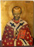 Sfântul Nicolae, icoană pe lemn