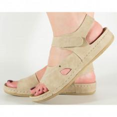 Sandale bej cu gel pe talpa 154056M
