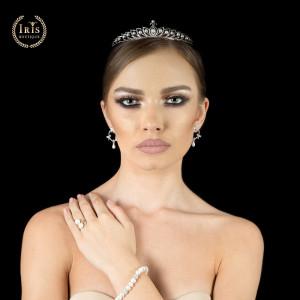 Tiara placata cu Aur 18K, Perle si Diamante, Pearls