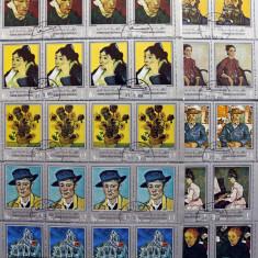 Yemen A.R.- PICTURA-Van Gogh-4x10 (4Serii complete).OBLITERATE - WS 172