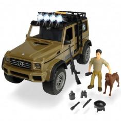 Masina Dickie Toys Playlife Ranger Set cu masina Mercedes-Benz AMG 500 4x4 figurina si accesorii