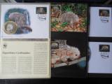 Serie timbre fauna WWF animale nestampilat postale filatelice