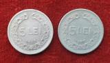 Lot x 2 monede 5 Lei 1949 & 5 Lei 1950  moneda Republica Populara Romana