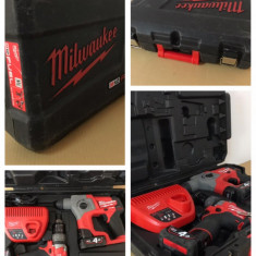 Milwaukee M12 Fuel brushless set rotopercutor CH sds filetanta CDP 2018 4.0 Ah