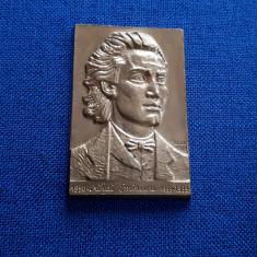Placheta Mihai Eminescu - Centenar - S.N.R. - medalie - SNR