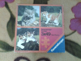 Ravensburger Cats Puzzle copii 3 x 49 piese, Disney